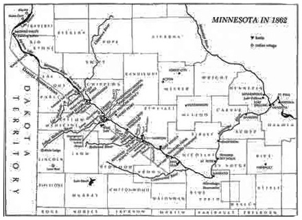 US Dakota War Minnesota County by County